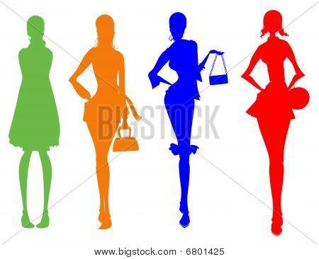 Business Female Silhouette