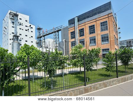 ALEKSEEVKA, BELGOROD REGION, RUSSIA - JUNE 8, 2014: Industrial buildings of PJSC EFKO. EFKO Group is Russia's largest vertically integrated company producing specialized fats
