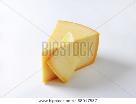 triangle of gouda cheese