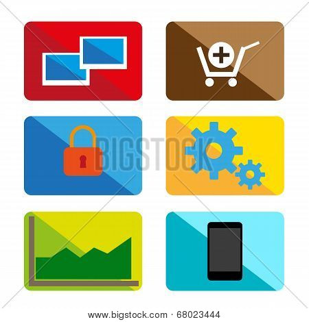 Design color vector icons