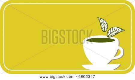Tea Cup Label