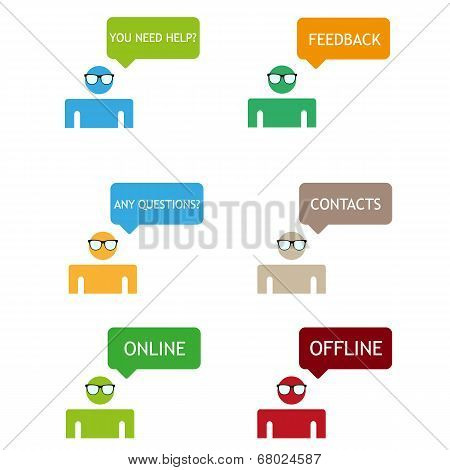Feedback color vector icons