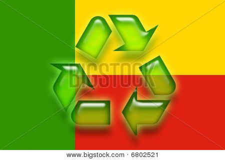 Flag Of Benin Recycling