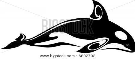 Wild whale tattoo