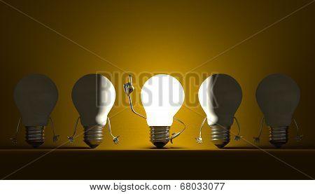 Light Bulbs, Moment Of Insight On Yellow