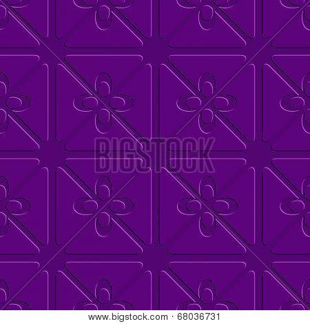 Embossed Purple Flourish Simple Pattern