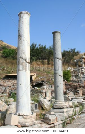 Ephesus ruins in izmir-turkey