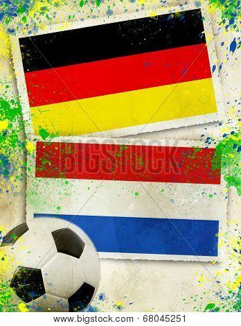 Germany vs Netherlands soccer ball concept - final