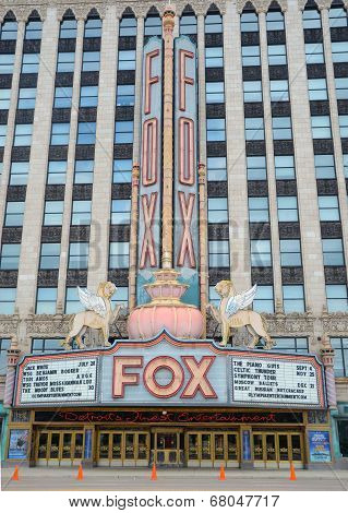 Fox Theater In Detroit, Mi