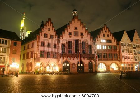 Frankfurt  - Townhall Römer at night