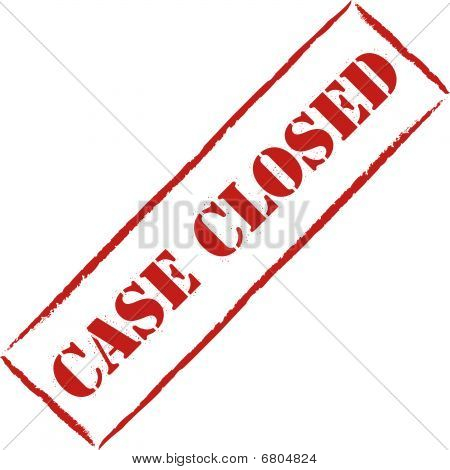 "Red stamp ""case closed"""