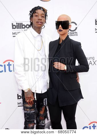 LAS VEGAS - MAY 18:  Wiz Khalifa & Amber Rose arrives to the Billboard Music Awards 2014  on May 18, 2014 in Las Vegas, NY