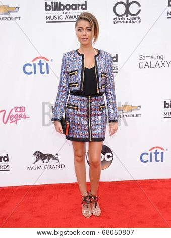 LAS VEGAS - MAY 18:  Sarah Hyland arrives to the Billboard Music Awards 2014  on May 18, 2014 in Las Vegas, NY