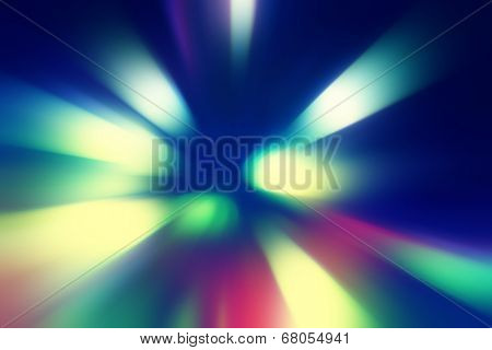 Defocused abstract lights background in motion blur.