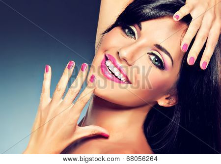 model girl with a beautiful smile