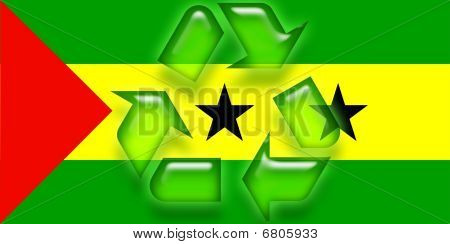Flag Of Sao Tome And Principe Recycling