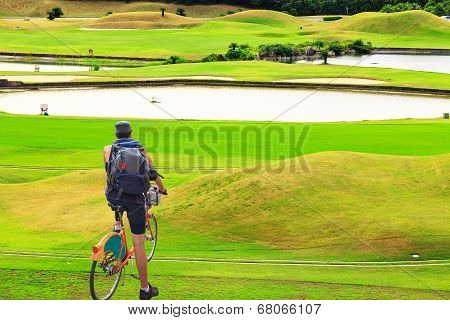 Bike Riding With Nice Background