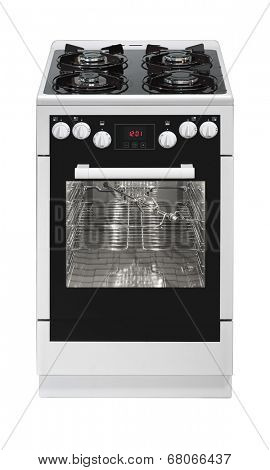 Free standing cooker isolated on white background