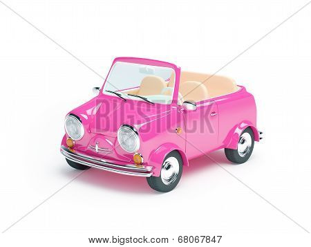 pink small car