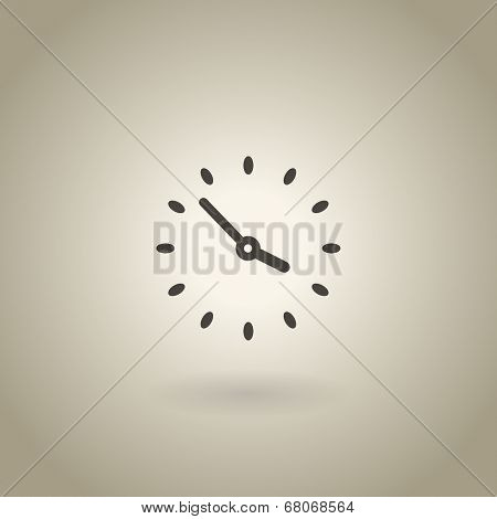 Simple clock illustration with shadow