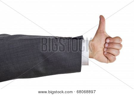 Business Man Arm Thumb Up