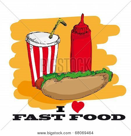 I love fast food card design