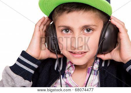 Boy Holding Headphones
