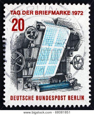 Postage Stamp Germany 1972 Stamp-printing Press