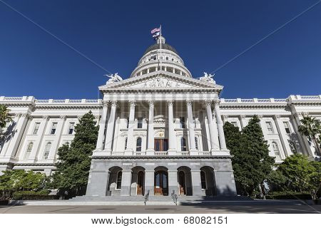 California State Capitol building in Sacramento, California.