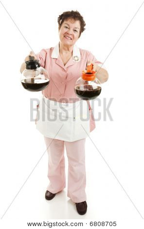 Waitress - Regular Or Decaf Coffee