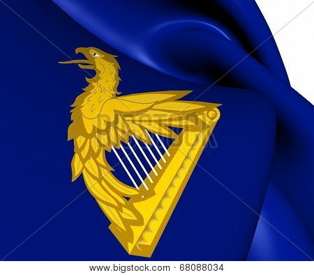 Ireland Eagle Harp Flag