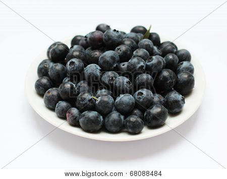 blueberries on the plate
