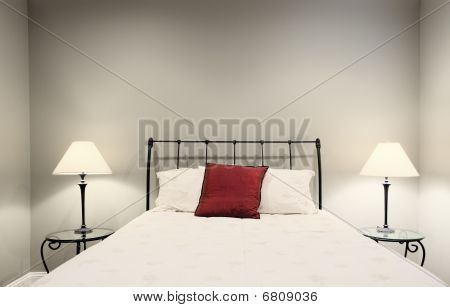 Bed And Lamps