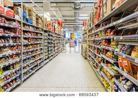 Supermarket Aisle Food