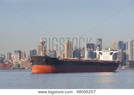 Anchored Freighter, Burrard Inlet, Vancouver