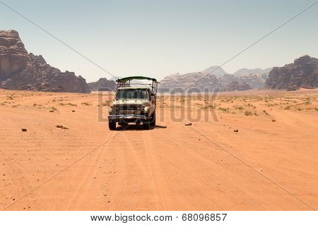 Off Road Vehicle In Desert