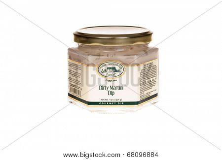HAYWARD, CA - July 8, 2014: 12 oz jar of Robert Rothschild farm  Dirty Martini