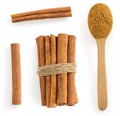 picture of cinnamon sticks  - cinnamon stick isolated on white background - JPG