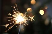 foto of ignite  - holiday sparkler with beautiful bokeh  - JPG