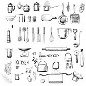 stock photo of ladle  - Kitchen set - JPG