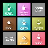 picture of monday  - Colorful 7 days of week from Monday to Sunday - JPG