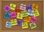 image of bulletin board  - motivational slogans and phrases  - JPG