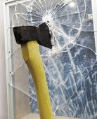 stock photo of shivering  - Axe to smash the window - JPG