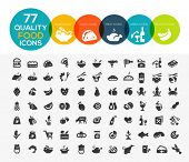 stock photo of high-quality  - 77 High quality food icons - JPG