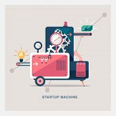 foto of time machine  -  Startup machine - JPG