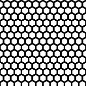 pic of honeycomb  - honeycomb seamless pattern in vector black color - JPG