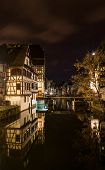 picture of alsatian  - Alsatian style houses in Petite France area of Strasbourg - JPG