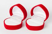 picture of jewel-case  - Two Red Empty Ring Case  - JPG