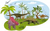 foto of ankylosaurus  - Vector illustration of world of dinosaurs  - JPG