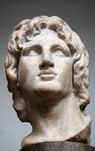 picture of mesopotamia  - Marble head sculpter of  Alexander the Great 356 - JPG